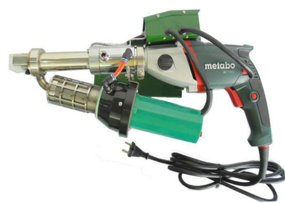 Hand held Plastic Extrusion welder with METABO motor and LEISTER hot air gun